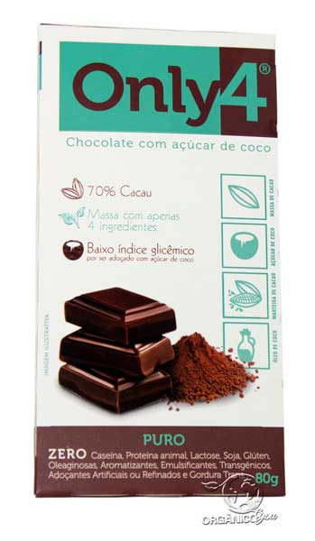 CHOCOLATE ONLY4 PURO 70% - 80G