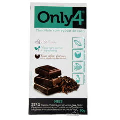CHOCOLATE ONLY4 COM NIBS 80G