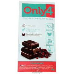 CHOCOLATE ONLY4 CRANBERRY 80G